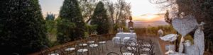 Intimate civil ceremony overlooking the valley