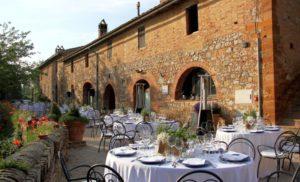 Wedding reception in the borgo