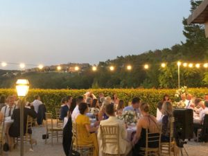 Wedding reception in the natural terrace