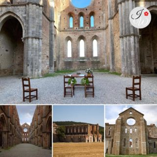 The amazing location where the wedding of today was held. The Abbey of Saint Galgano was a Cistercian Monastery founded in the valley of the river Merse between the towns of Chiusdino and Monticiano, in the province of Siena, region of Tuscany, Italy. Presently, the roofless walls of the Gothic style 13th-century Abbey church still stand. (Text and photo Wikipedia) #italyweddingamsterdam #italywedding #italyweddingvenue #weddingday #weddinginitaly #weddinginspiration #weddingplanner #realweddings #weddingdream #sangalgano #sangalganoabbey #sangalganowedding